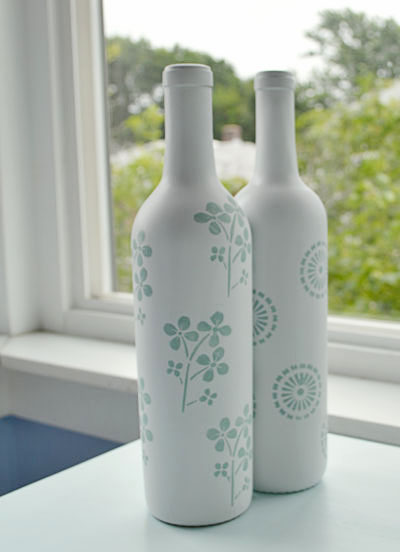 Decorative Wine Bottles Ideas Amusing Spray Painted Wine Bottles Diy  Home Painting Decorating Design