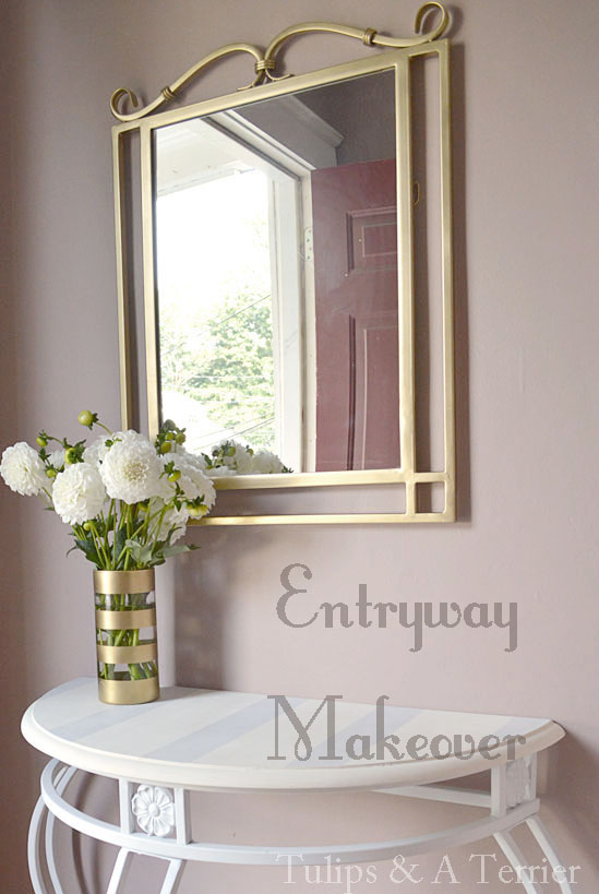 Foyer Mirror University : Entryway makeover tulips a terrier