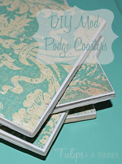 DIY Mod Podge Coasters